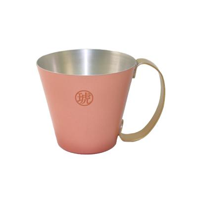 琥珀色 純銅マグカップ
