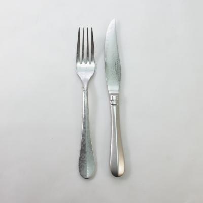 TAMAHAGANE ステンレス柄 ステーキナイフ・フォークセット