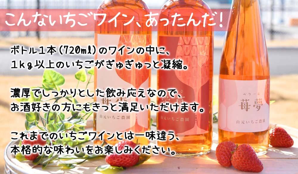 完熟いちごの風味豊かな本格的いちごワイン