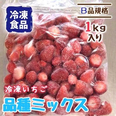 冷凍いちご 品種・サイズミックス 1kg