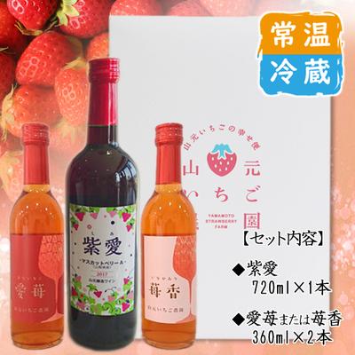 紫愛・いちごワイン 3本セット