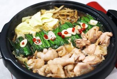 知床鶏&北島麦豚 モツ鍋セット【肉のなかせ】