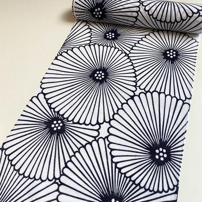 竺仙 綿絽ゆかた 『傘菊』 白地
