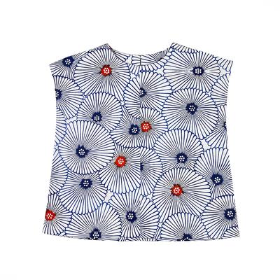 #212 フレンチブラウス 綿コーマ『万寿菊』 Mサイズ