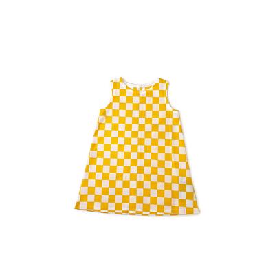 【受注後約2週間でお届け】#230 姫わんぴ 綿コーマ『市松』白×黄 110サイズ