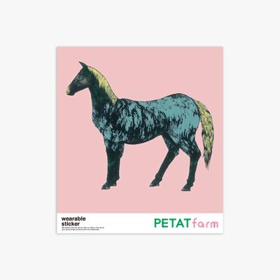 PETAT farm マザー牧場ファッションステッカー ウマ