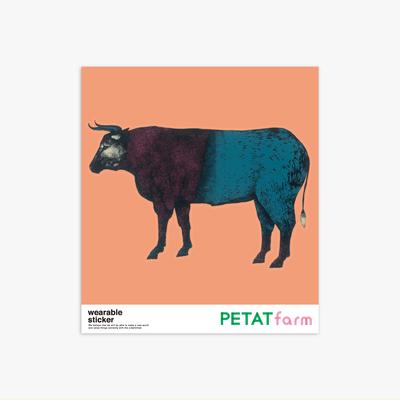 PETAT farm マザー牧場ファッションステッカー ウシ