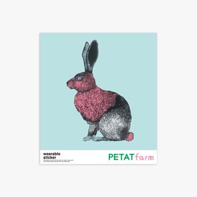 PETAT farm マザー牧場ファッションステッカー ウサギ