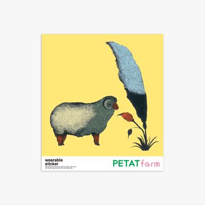 PETAT farm マザー牧場ファッションステッカー ヒツジ