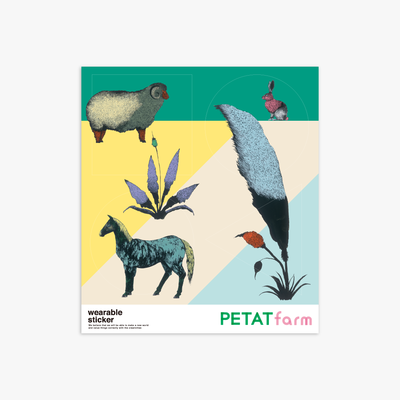 PETAT farm マザー牧場ファッションステッカー どうぶつたち1