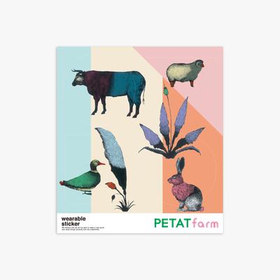 PETAT farm マザー牧場ファッションステッカー どうぶつたち2