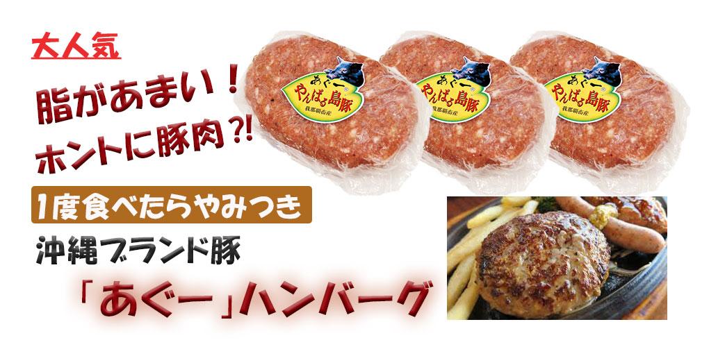 沖縄アグー豚ハンバーグ 豚肉 ハンバーグ