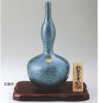 菊紋花瓶 ひさご(寿鶴首)