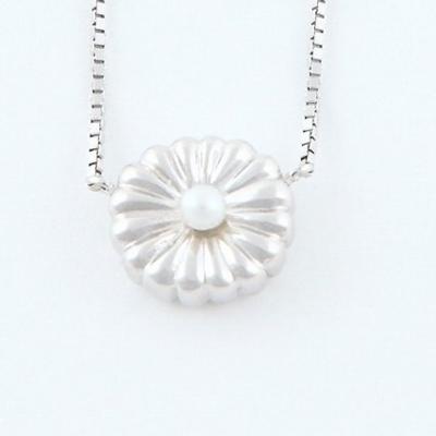 純銀菊ネックレス