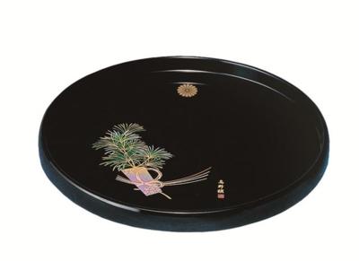 菊紋入・丸盆(高野槇)