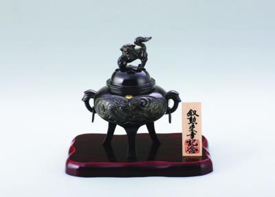 菊紋香炉 龍紋