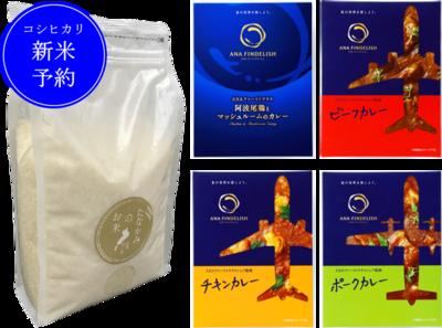 <新米予約>たなかみ米精米2kgとANAカレー(4種)20食セット