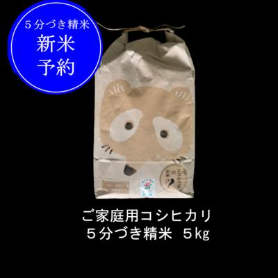 <新米予約>ご家庭用5分づき精米コシヒカリ 5kg