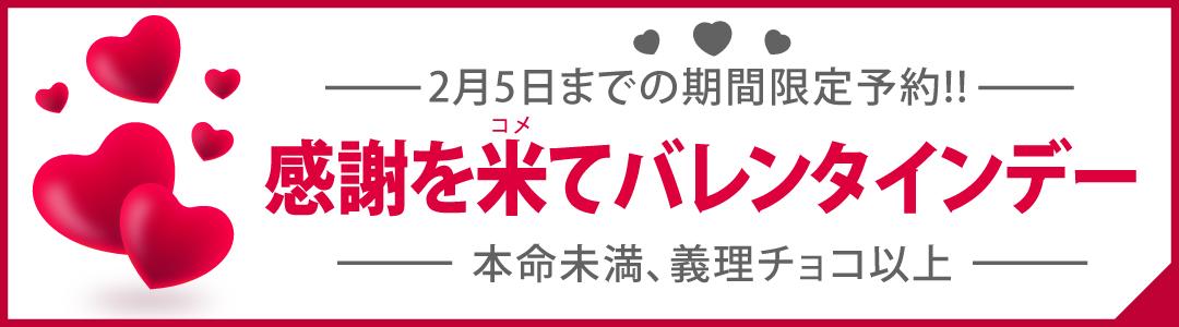 感謝をこめてバレンタインデー 2月5日まで