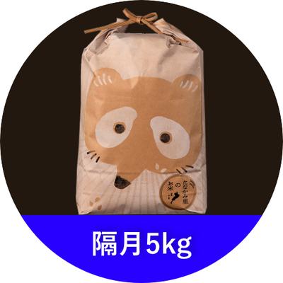 たなかみ米 精米 定期購入 隔月5kg