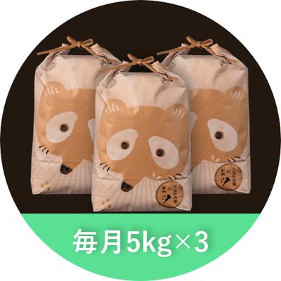 たなかみ米 精米 定期購入 毎月15kg