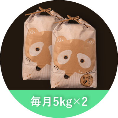 たなかみ米 精米 定期購入 毎月10kg