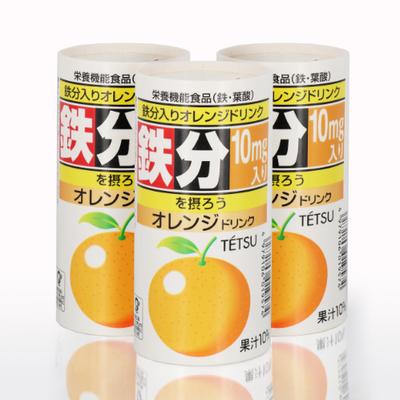 鉄分入りオレンジドリンク (1ケース30本入り)
