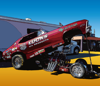 Vintage Drag Racer. LasVegas, NV ヴィンテージ・ドラッグレーサー
