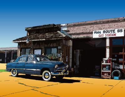 Shoebox on the road. Williams, AZ ウイリアムズのシューボックス