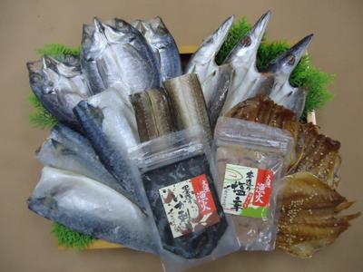 長崎対馬一汐干しおさかな塩辛セット