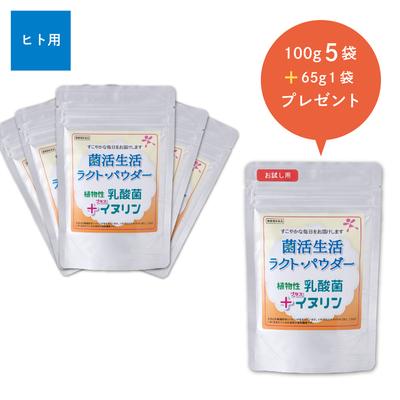 菌活生活ラクト・パウダー 100g 5袋+65g 1袋セット【送料無料】