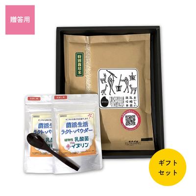 乳酸菌特別栽培米 5合+菌活生活ラクト・パウダー 65g 2袋