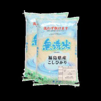 無洗米!令和2年産福島県中通り産コシヒカリ10kg