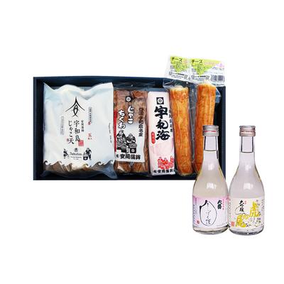 じゃこ天と日本酒Bセット