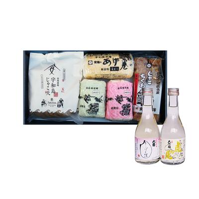 じゃこ天と日本酒Cセット