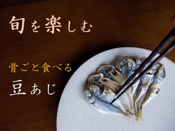 豆あじは10~12cmの小さな鯵の干物です。頭から骨ごと食べられます。今が旬です。