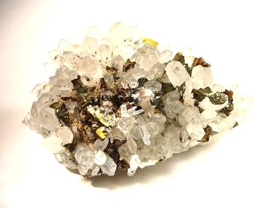 黄銅鉱と水晶