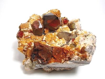 煙水晶と柘榴石