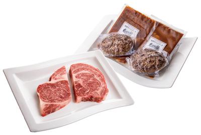 但馬牛リブロースステーキ&ハンバーグ