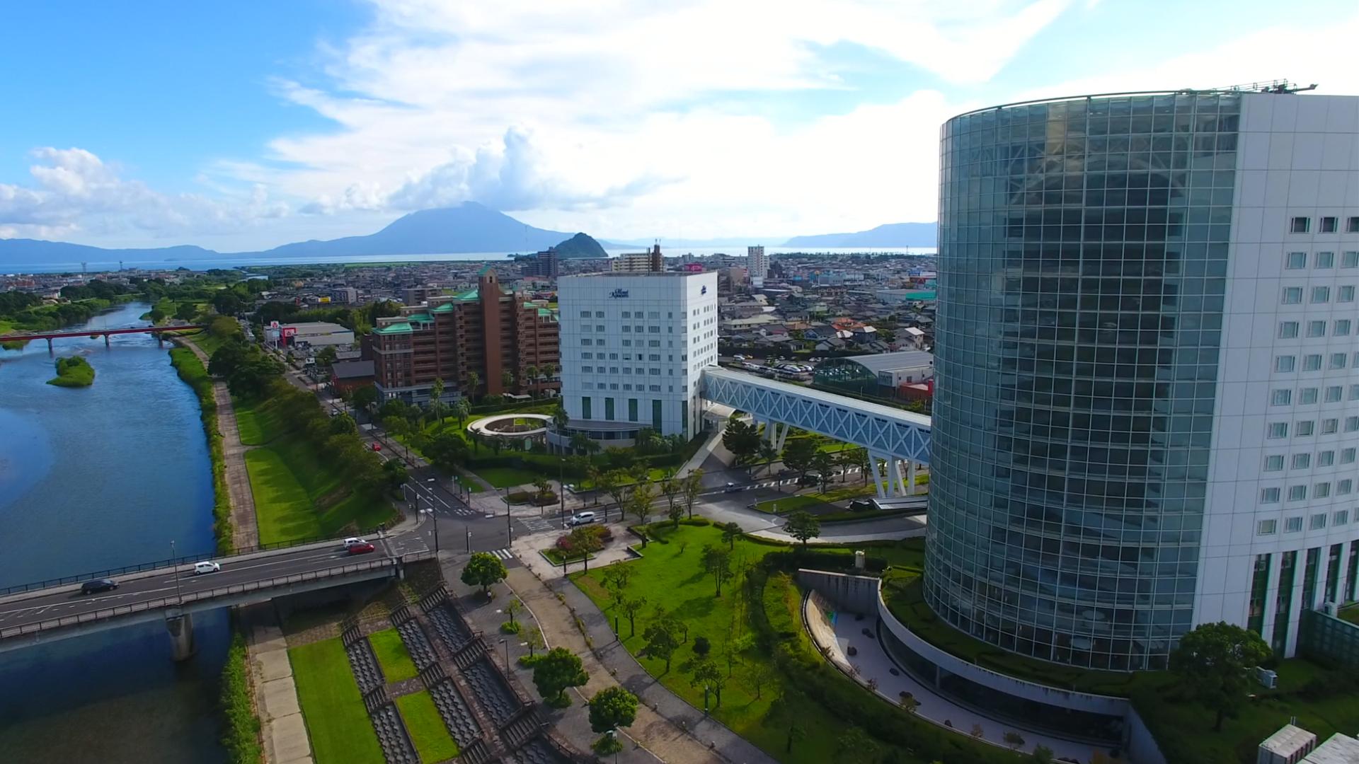 ホテル京セラから見える桜島