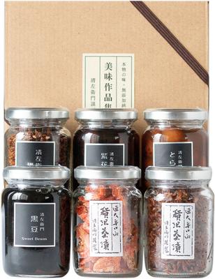 小びん6本詰合せ(鮭・ちりめん・ふりかけ・黒豆・紫花豆・とら豆)
