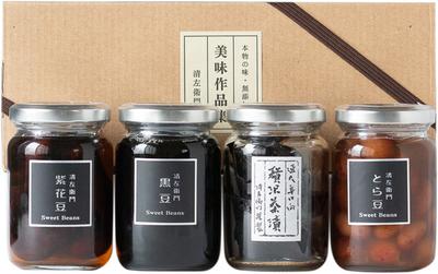 小びん詰合せ(黒豆・お茶漬け昆布・紫花豆・とら豆)
