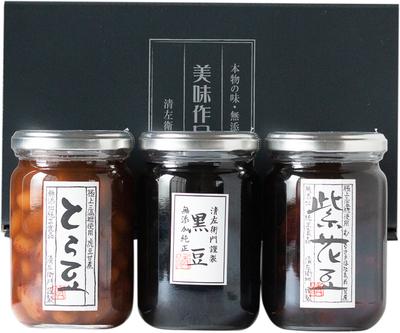 常温煮豆大びん詰合せ(黒豆・紫花豆・とら豆)