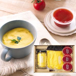 【岡本農園】スイートコーンスープ&トマトベリーゼリーセット