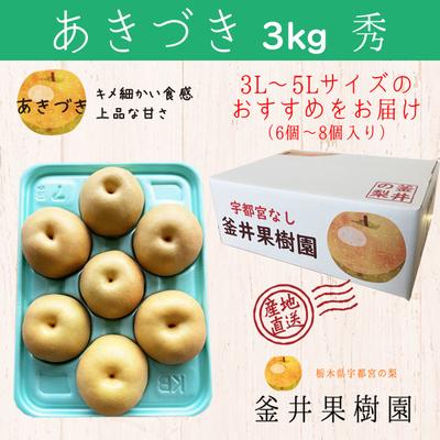 あきづき梨【3kg】秀