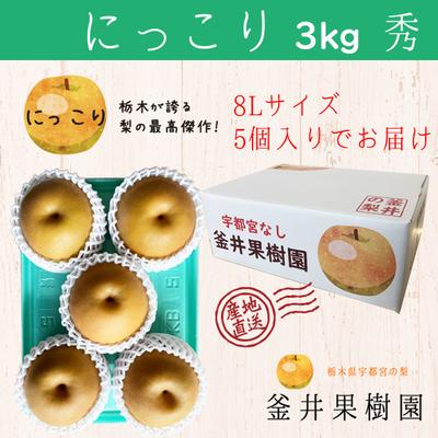 にっこり梨【3kg】秀