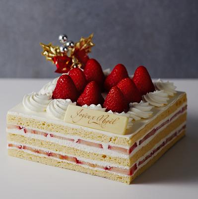 【Xmas店頭受取商品】低糖質フレジェ(14cm×14cm)