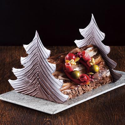 【Xmas店頭受取商品】2種のケーキを包み込んだ「ブッシュ・ド・ノエル」 数量限定