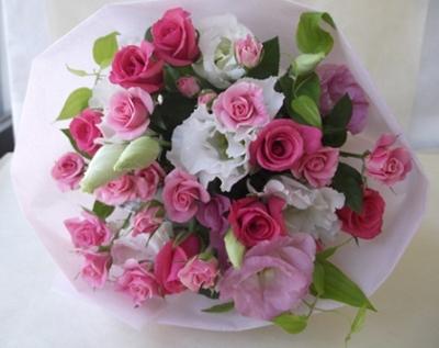 ピンク&ホワイトの花束