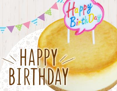 誕生日チーズケーキセット(ホールタイプ)